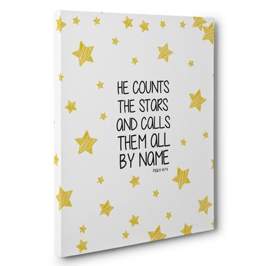 Custom Made He Counts The Stars Canvas Wall Art