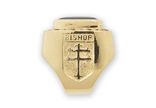 Custom Made Bishops Ring Large Size With Gemstones