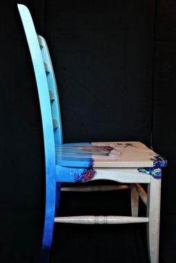 Custom Made Hand Painted Underwater Shipwreck Chair