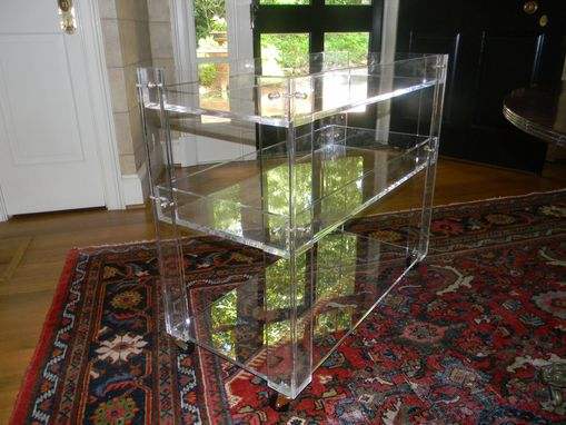 Custom Made Lucite/Acrylic Bar Cart -Drink Cart - Hand Crafted , Made To Order