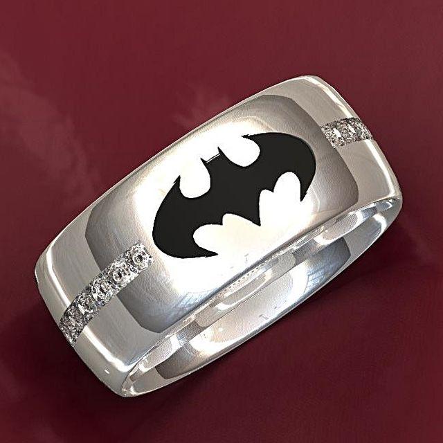 Hand Crafted Dark Knight Batman Wedding Ring by Valeria Fine Jewelry ...