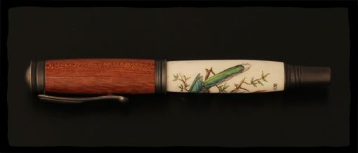 Custom Made Red Faced Malkoha Fountain Pen