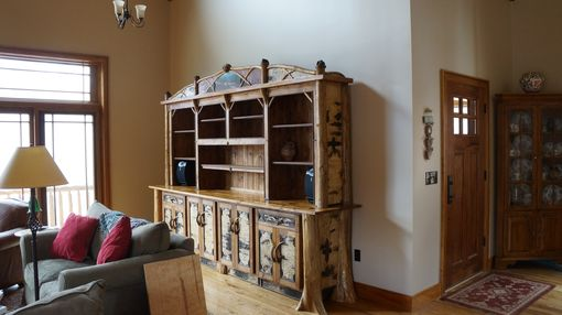 Custom Made Large Alder And Birch Bark Bookcase