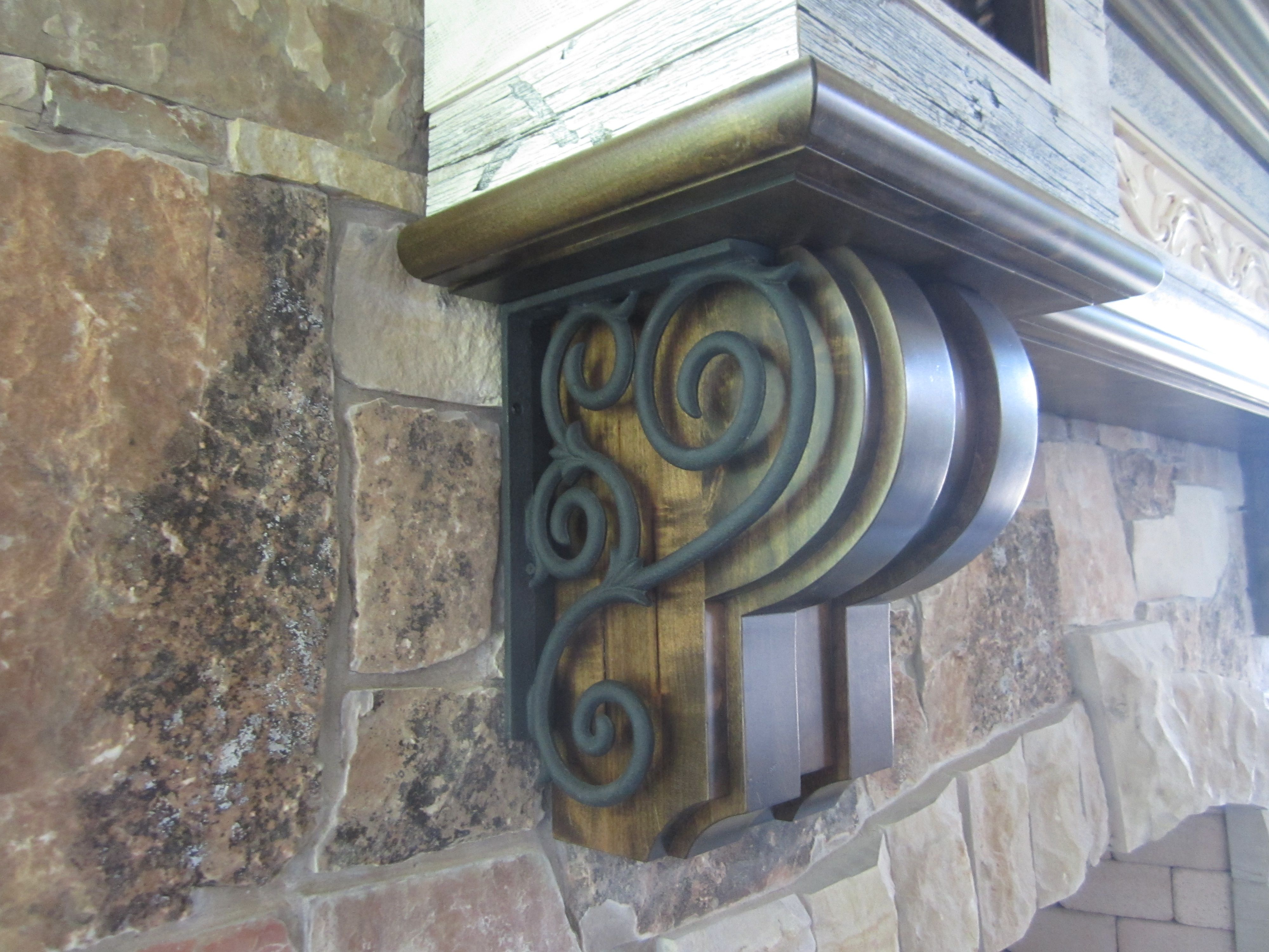 buy a hand made salvaged barnwood fireplace mantel with wrought