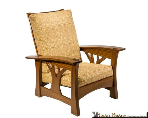 Custom Made Arbor Morris Chair In Sapele