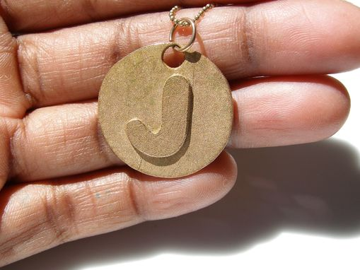 Custom Made Personalized Bronze Necklace Women's Gift Letter Necklace