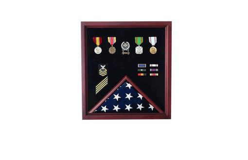 Custom Made Flag And Medal Display Cases