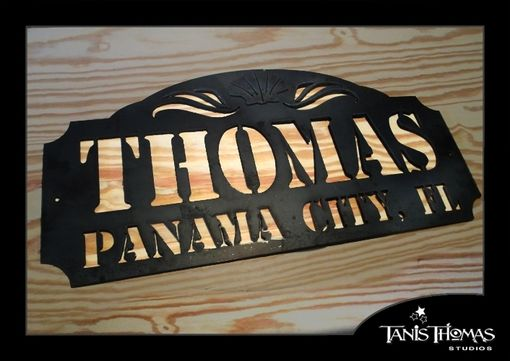 Custom Made Metal Yard Sign, House Sign