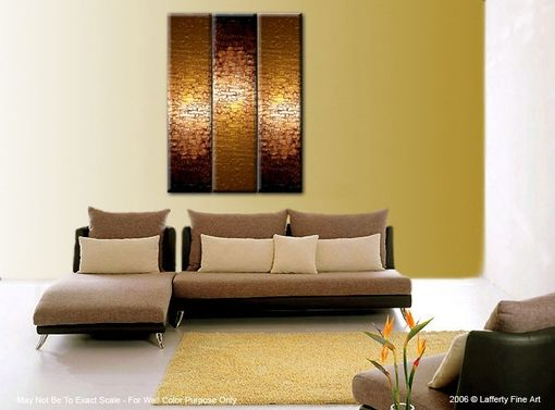 Custom Made Original Large Textured Painting Contemporary Gold Metallic Abstract Impasto Palette Knife - 36x48