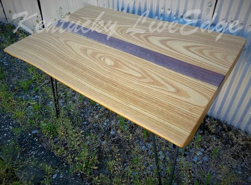 Custom Made Catalpa And Walnut Live Edge Coffee Table- Small Coffee Table- Natural Wood- Gold- Brown- Chocolate
