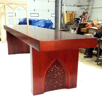 Custom Made 6 Cherry Wood Benches For Cemetery Mausoleum