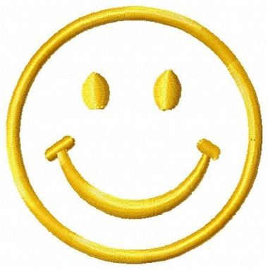 Custom Made Happy Face Embroidery Design