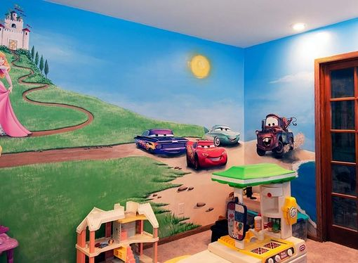 Custom Made Disney Playroom Murals