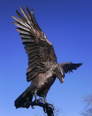 Custom Made Welded Sculpture, Migizii Manidoo. (Eagle Spirit)