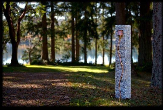 Handmade indian granite outdoor bollard light by temple garden custom made indian granite outdoor bollard light workwithnaturefo