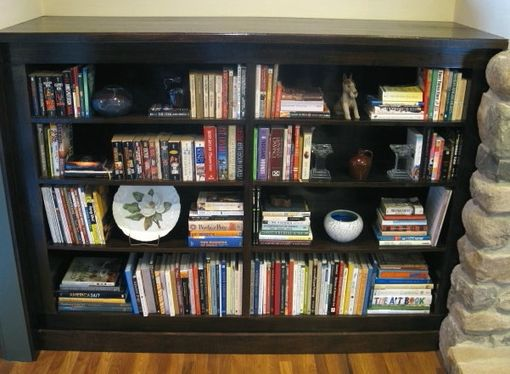 Custom Made Stain Grade Built-In Bookshelves