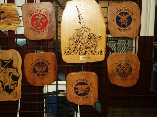 Custom Made Military Logos Woodcraving