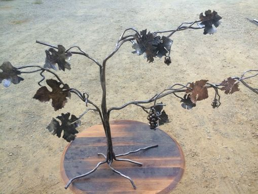 Custom Made Copper, Steel, Brass Forged Grapevine Sculpture
