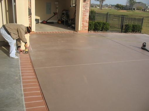 Hand Made Driveway Stained And Scored By Glamour Krete