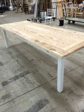 Awe Inspiring Custom Unfinished Farmhouse Table By Construct Custommade Com Interior Design Ideas Skatsoteloinfo