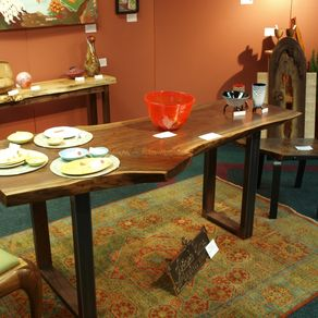live edge dining room table. Natural Live Edge Walnut Desk Or Small Table Wood Furniture  CustomMade com