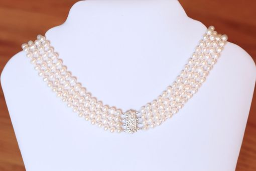 Custom Made Pearl Drop Sapphire And Diamond Filigree Necklace