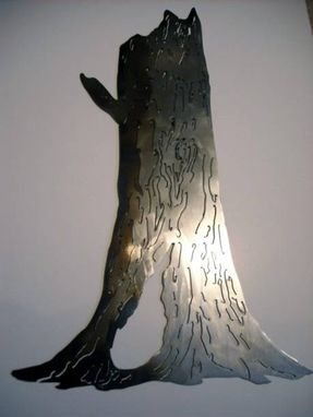 Custom Made Tree Trunk Metal Wall Art Sculpture