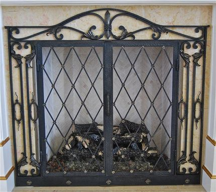 Custom Made Iron Firescreen