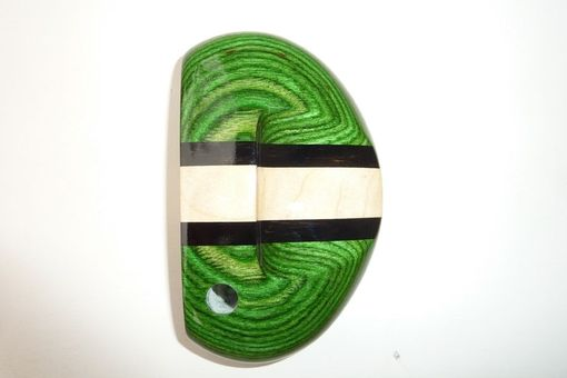 Custom Made Light Green Stained Maple With Ebony