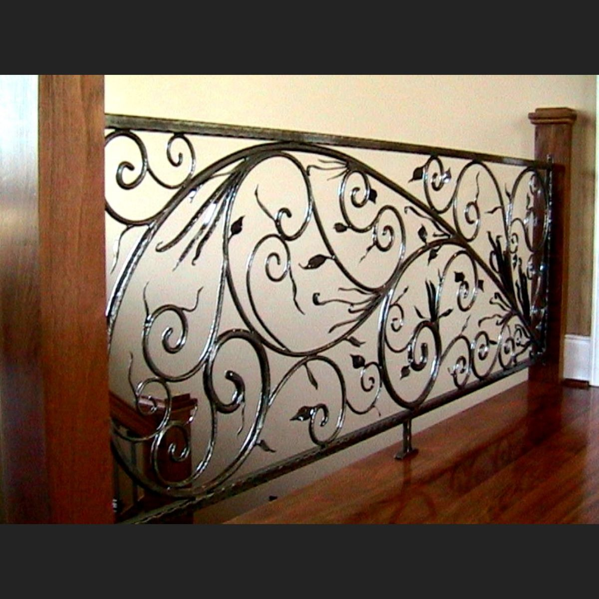 Hand Crafted Custom Forged Railing By Ornametals And Finer