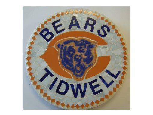 Custom Made Chicago Bears Personalized Garden Stone