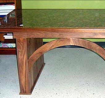 Custom Made Solid Walnut And Granite Desk