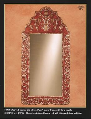 "Custom Made Large ""Urn"" Mirror Frame"