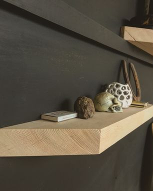 Custom Made Reclaimed Wood Floating Shelves.