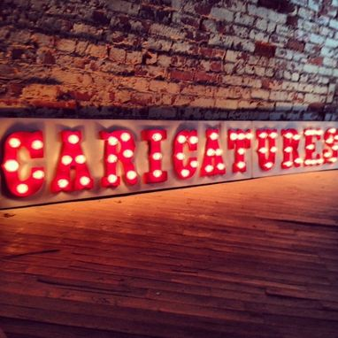 Custom Made On Sale Circus Marquee Metal Letters 48 Inch Tall Lighted Custom Finish Included