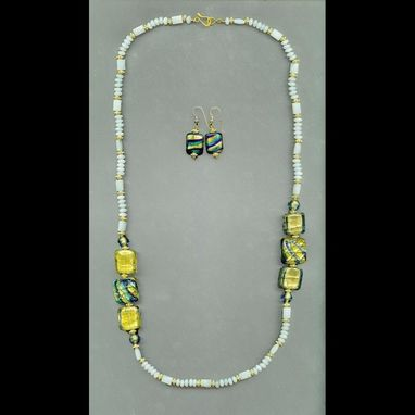 Custom Made Hatshepsut Amazonite Necklace & Earrings Set
