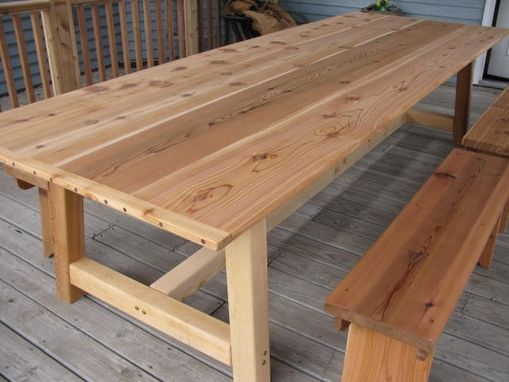 Awe Inspiring Handmade Large Outdoor Dining Table Cedar By Download Free Architecture Designs Scobabritishbridgeorg