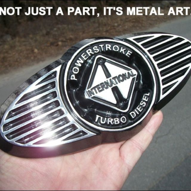 Handmade International Powerstroke Turbo Diesel Emblem For Ford Super Duty F250 F350 F450 By Twinmountainmetalart