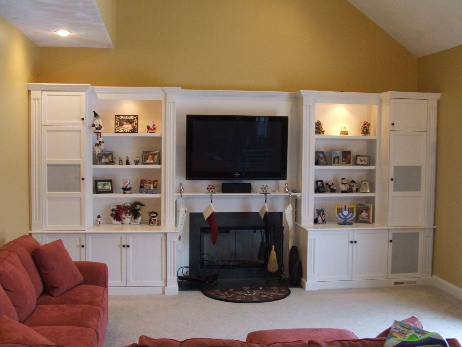 Custom Painted Entertainment Center By Stephen Cabitt