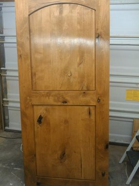 Custom Made Knotty Alder Entry Door