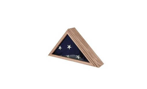 Custom Made Capitol Flag Case Fit 3ft X 5ft Flag Oak