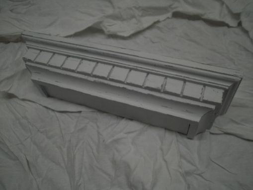 Custom Made White Distressed Floating Shelf Or Photo Ledge