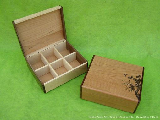 Custom Made Wooden Tea Chest