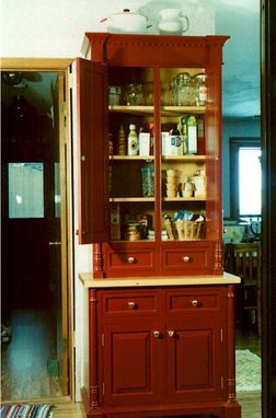 Custom Made Red Oak Pantry