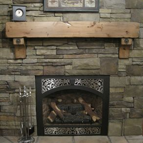 Knotty Alder Fireplace Beam Mantel Rustic Distressed Antique Bolts Salvaged Timber
