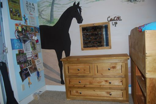 Custom Made Barn-Inspired Wooden Bed And Dresser