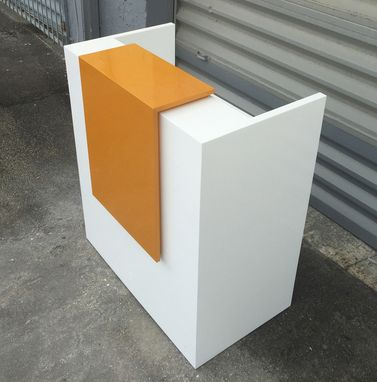 Custom Made Rave Reception Desk In White Gloss
