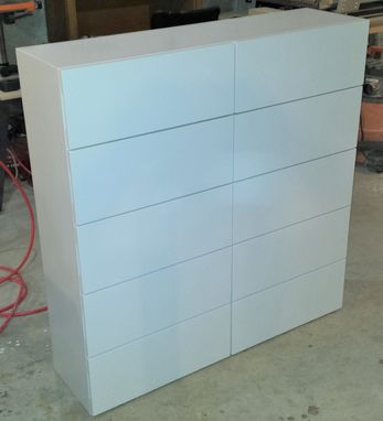Custom Made White Lacquer Dresser