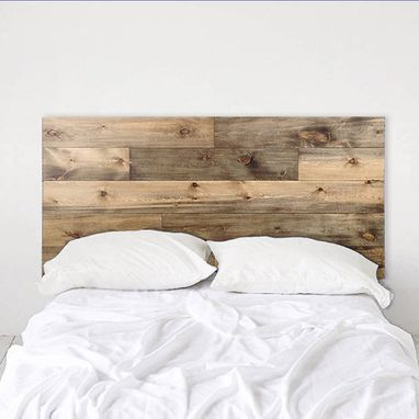 Custom Made Rustic Headboard - Natural Wood Planks