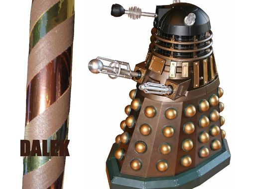Custom Made Dalek-Themed Collapsible Travel Dance Hula Hoop